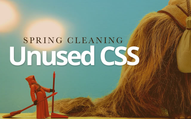 Spring-cleaning unused CSS