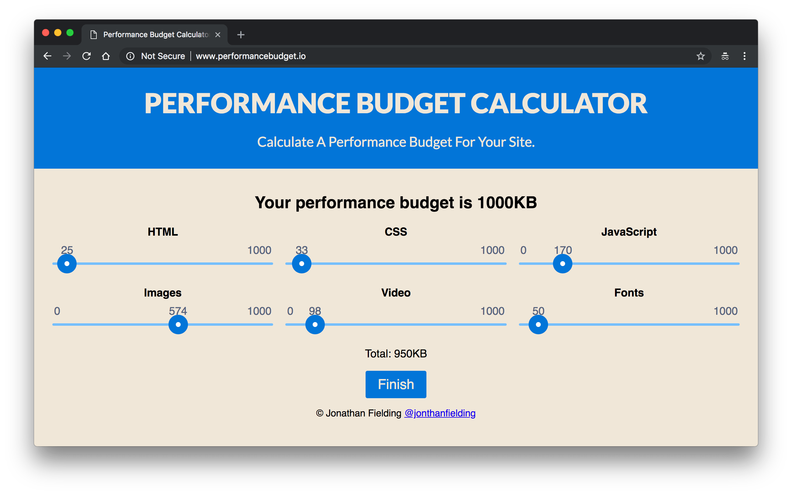 addyosmani com start performance budgeting