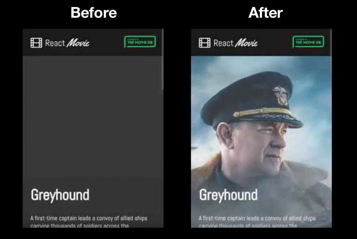 before preload and after